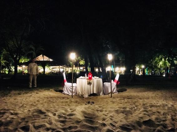 Dinner by the beach!