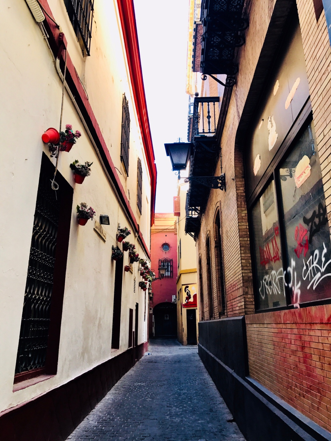 The beautiful lanes of Seville.